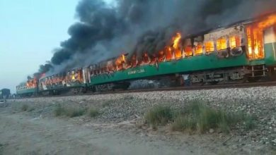 Photo of In Tezgam train, 70 passengers are killed, scores are injured