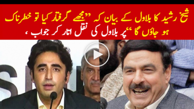 Photo of Sheikh Rashid Ahmad response on Bilawal Bhutto statement